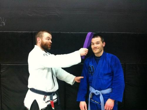 You wouldn't know what a purple belt was if I hit you over the head with it.