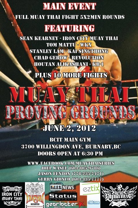 Muay Thai fights in Burnaby on June 2, 2012.