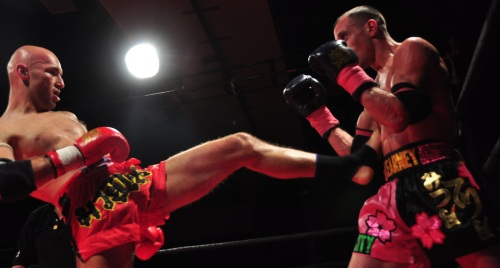 Arthur Barkaukas pushes back Sean Kearney at Proving Grounds Muay Thai