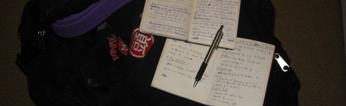 Brazilian jiu-jitsu notebooks